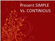 English powerpoint: Present simple Vs, Continious