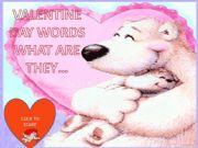 English powerpoint: Valentine words game with Mother Bear