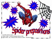 English powerpoint: Spider Prepositions
