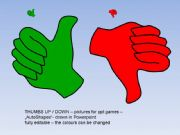 English powerpoint: Thumbs up :-) Editable pictures for ppt games