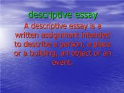 english essay describe a place