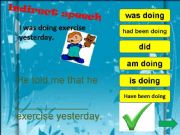 English powerpoint: Reported speech game