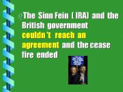 English powerpoint:  History of Northern Irland  (last part)