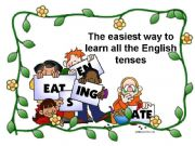 English powerpoint: The easiest way to learn all the English tenses