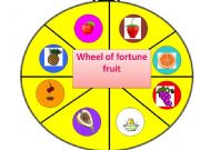 English powerpoint: wheel of fortune - fruit