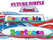 English powerpoint: Future Simple - Sentence Unscramble PART 1