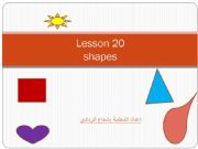 English powerpoint: shapes