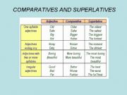 English powerpoint: ppt comparatives and superlatives