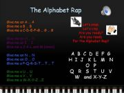 English powerpoint: The Alphabet Rap