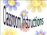 English powerpoint: Classroom  Instructions