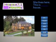English powerpoint: Possessive adjectives game