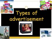 English powerpoint: TYPES OF ADVERTISEMENT