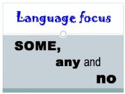 English powerpoint: SOME, ANY and NO