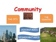 English powerpoint: COMMUNITY: THE CITY VS THE COUNTRY