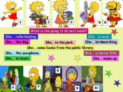 English powerpoint: Lisa Simpson´s present past and future, (2/2)