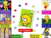 English powerpoint: Lisa Simpson´s present, past and future (1/2)