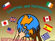 English powerpoint: Countries and Nationalities  - Part 1
