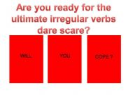 English powerpoint: playing with irregular verbs - hard mix