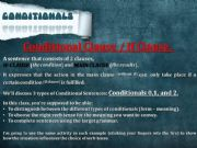 English powerpoint: Conditionals types 0,1 and 2