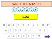 English powerpoint: Adverbs game