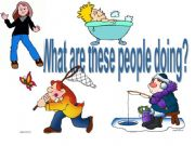 English powerpoint: what they doing_present continuous