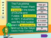 English powerpoint: Passives - Fukushima power plant
