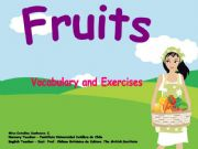 English powerpoint: Fruits: vocabulary and Board games