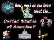English powerpoint: The USA quiz - Part I (20 slides, fully editable, animated)