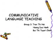 English powerpoint: communicative language teaching