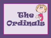 English powerpoint: ORDINAL NUMBERS
