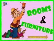 English powerpoint: ROOMS & FURNITURE (Part 2)