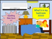 English powerpoint: guess the alphabet game - things in the bedroom 1