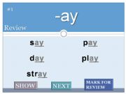 English powerpoint: Word Families Flash Cards