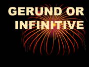 English powerpoint: Infinitive or gerund