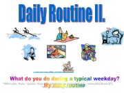 English powerpoint: Daily routines animates ppt 2/2