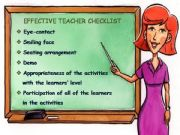 English powerpoint: Effective Teacher Checklist