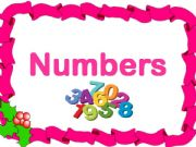 English powerpoint:  Numbers game  (Count and number)