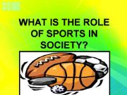 the role of sports in our society