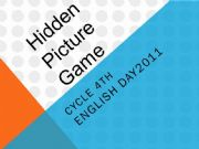 English powerpoint: a peacemaker hidden picture game