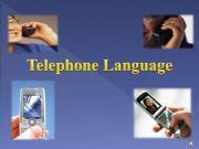 English powerpoint: telephone language