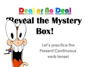 English powerpoint: Deal or No Deal - a present continuous review game