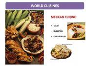 English powerpoint: World Cuisines
