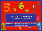 English powerpoint: Play with numbers