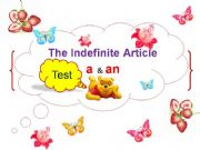English powerpoint: The Mini Test on Indefinite Article