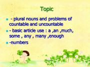 English powerpoint: Noun,Article and number