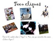 English powerpoint: Teen Cliques and Relationships with others