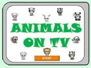 English powerpoint: ANIMALS ON TV - Part 1 -