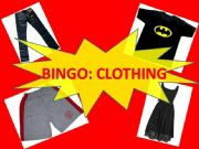 English powerpoint: Bingo about Clothes