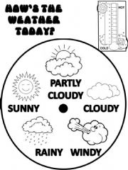 English powerpoint: Weather Wheel Poster (2 pages)