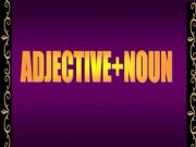 English powerpoint: Adjective + Noun